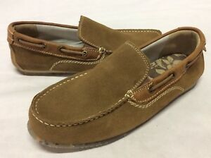GBX Men's Shoes Loafers Slip On, Brown Suede, Size 8 Light weight Driving Shoes