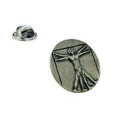 Vitruvian Man Pewter Lapel Pin Badge XDHLP1380