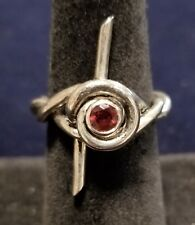 Barbed Wire Ring Sterling Silver with Ruby