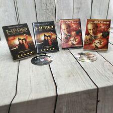 Fearless + Hero (Dvd) Jet Li Lot of 2 w/ Sleeves