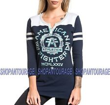 American Fighter Maryland FW5510 Women`s New 3/4 Sleeve Top By Affliction