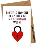 Funny VALENTINES LOCKDOWN ANNIVERSARY Card Boyfriend Husband Girlfriend Wife /DB