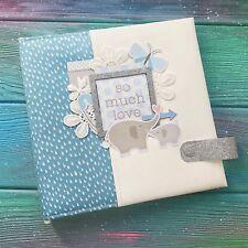 New Scrapbook Baby Photo Album Boy Blue Memory Kids Story Family Gift