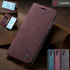 For Huawei P30 Pro Magnetic Flip Leather Wallet Card Stand Full Body Case Cover