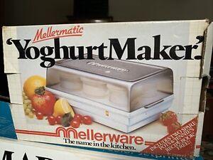 Vintage Mellermatic Yoghurt Maker Mellerware With Original Box, Recipe Book