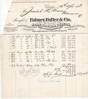 U.S. Palmer. Fuller & Co. Chicargo 1878 Sash,Doors,Blinds Goods Receipt Rf 37839