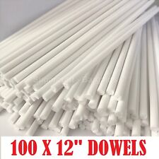 """100 x 12"""" Long CAKE DOWELLING Rods Support Tiered Cakes Sugarcraft DOWELS DOWELS"""