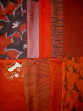 Vintage Japanese Silk Kimono Fabric Lot Offcuts Quilting Patchwork K-17