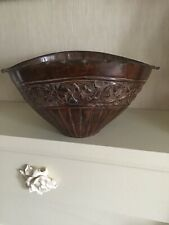 BEAUTIFUL AND UNUSUAL ANTIQUE STYLE METAL VASE WITH LOVELY DETAIL