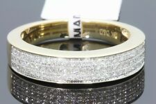 10K YELLOW GOLD .54 CT DIAMOND MEN WEDDING BAND BRIDAL ENGAGEMENT RING PINKY