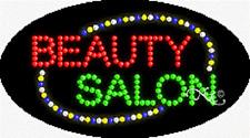 "NEW ""BEAUTY SALON"" 27x15 OVAL SOLID/ANIMATED LED SIGN w/CUSTOM OPTIONS 24026"