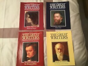 MAGAZINE MARSHALL CAVENDISH FORTNIGHTLY COLLECTION THE GREAT WRITERS NOS 9 TO 12