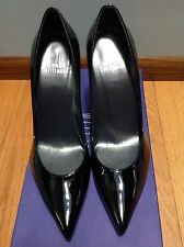 Stuart Weitzman Designer Black Patent Heels 6.5 M New 6 1/2
