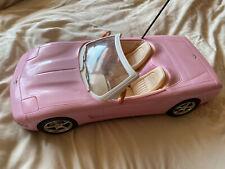 Barbie Corvette * No Remote* Convertible Only Toy Car Pink Mattel 2001, Vintage