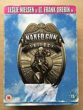 LESLIE NIELSEN The Naked Gun Trilogy ~ 1 + 2 1/2 + 33 1/3 3 DISCOS USADO GB DVD