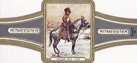 Zigarren-Bauchbinde Ritmeester Serie D 14 Oostenkrijkse Cavalerie Husar Austria