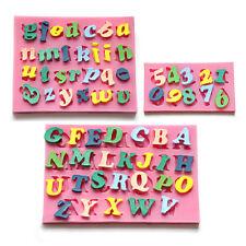 3pcs Molde De Silicona Forma Letras y Número 0-9 Para Tartas Fondant Arcilla