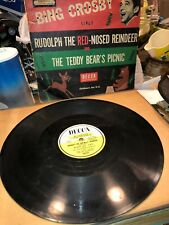 78rpm Bing Cosby sings RUDOLPH THE RED-NOSED REINDEER & THE TEDDY BEAR'S PICNIC