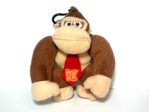 Nintendo Licensed Super Mario Plush DONKEY KONG Key Chain Clip Coin Bag