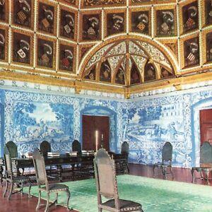 Sintra National Palace Coat of Arms Room Portugal PRT Castle Ephemera Postcard