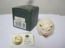 Harmony Kingdom Curly Roly Polys Tjrppi Pig 2000 Retired Adam Binder