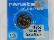 RENATA  Watch Battery  #373 /SR916W  Swiss Made  1Pc