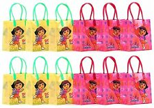 12PCS Dora The Explorer Goodie Party Favor Gift Birthday Loot Bags Licensed NEW