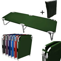 """Portable 24.5"""" W Military Cots Fold Up Bed Hiking Travel Camping -Green+Free Bag"""