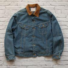 Vintage Lee Storm Rider Blanket Lined Denim Trucker Jean Jacket Size L XL
