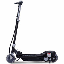 24 Volt Black Kids Motorized Rechargeable Standing Electric e Scooter Kickstand
