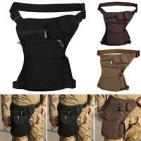 Mens Motorcycle Miitary Tactical Drop Leg Bag Thigh Waist Belts Pack Pouch Sport