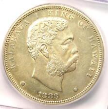 1883 Hawaii Kalakaua Silver Dollar $1 - ICG XF45 (EF45) - Rare Coin - $782 Value
