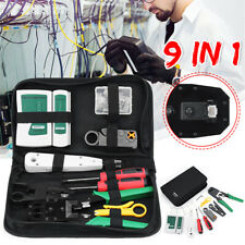 9 in1 LAN Network Hand Tool Cable Tester Crimp Crimper Plier Cat5 RJ45 RJ11
