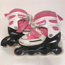 Chicago Harsh Inline Skates Pink & White Rollerblade Abec 3 Adjustable Sizes 1-4