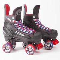 Bauer Quad Roller Skates - NS - 2018 Model -  Red/Blue Airwaves