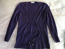 **SPECIAL** Purple Brunello Cucinelli Cashmere Scoop Neck Sweater w/Ties