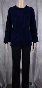 ANN TAYLOR LOFT BLUE & BLACK SWEATER & PANT OUTFIT - SIZE 6