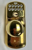Schlage FE575 505 PLY Plymouth Keypad Entry With Auto-Lock And Knobs Brass