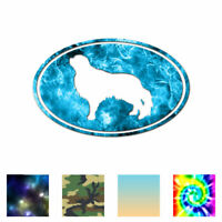 English Toy Spaniel Oval Dog - Decal Sticker - Multiple Patterns & Sizes ebn3662