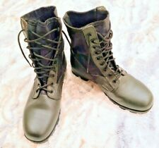 """NEW Rothco Black Jungle Boots Military Combat Lace Up 13W 9.5"""" Tall Breathable"""