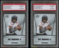 2017 PAT MAHOMES II LEAF SILVER 1ST GRADED 10 ROOKIE CARD (2 LOT) CHIEFS Patrick