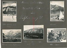 17 X photo, Tour en extension, Hallstadt et environnement 1929 (W) 1624