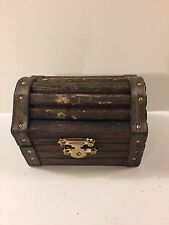Rustic Small Treasure Chest, Ring Bearer Box, Proposal/Engagement, Jewelry Box