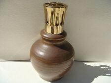 Ancienne LAMPE BERGER en céramique grès marron - type diffuseur parfum