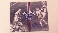 "Signed 1975 Dallas Cowboys Roger Staubach - Drew Pearson ""Hail Mary"" 11x14 COA"