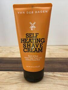 Van Der Hagen Self Heating Shave Cream Opens Pores Softens Facial Hair 6 oz