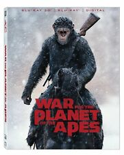 WAR FOR THE PLANET OF THE APES - 3-D & 2D -  Blu Ray - Sealed Region free