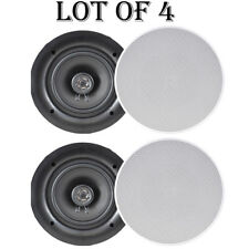 """Lot of 4) NEW Pyle PDIC66 6.5"""" In-Wall/In-Ceiling Speakers 200W 2Way Flush Mount"""