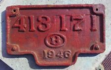 Lokschild 413 171 Fabrikschild 1946 Belgien NMBS SNCB Builders Plate Belgium