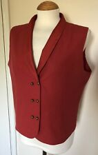 The Earth Company vintage red Silk & Cotton Ladies Waistcoat Sz XL 14 UK approx